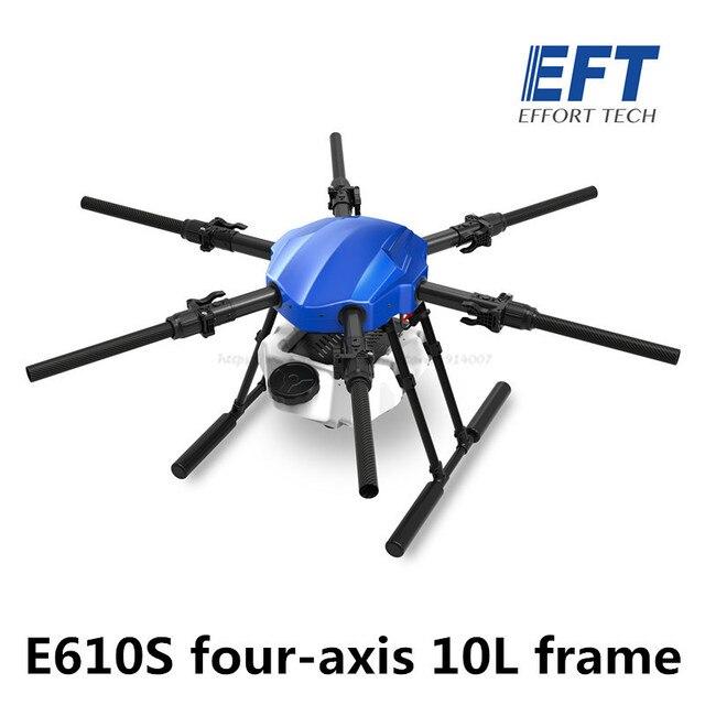 Eft nova atualização e610s 10l agrícola spray drone quadro seis eixo à prova dsix água dobrável drone quadro com x6 sistema de energia uav