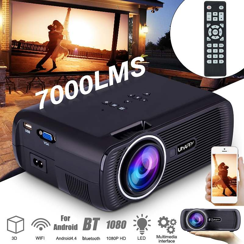 Mini Projector Full HD Portable 1080P 3D HD LED Projector Multimedia Home Theater USB VGA HDMI TV Home Theatre System