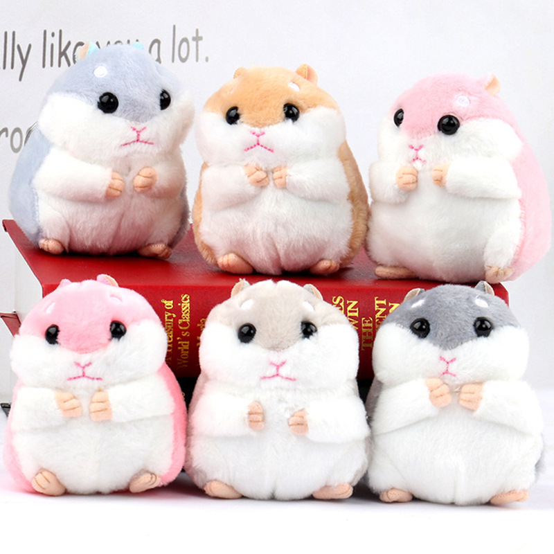 2020 New Fashion Cute Mini Cartoon Portable Hamster Plush Doll Pendant Keychain Mouse Keyring Toy
