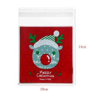 Image 5 - 50pcs/lot Merry Christmas Baking Packaging Bags Cartoon Christmas Santa Claus Snowman Snack Candy Bag Cookies Candy Storage Bag