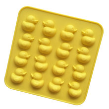 Currently Available Wholesale 16 Even Silicone Small Yellow Duck Chocolate Mold Ice Grid Mold High-temperature Resistant Easy to(China)
