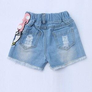 Image 4 - หญิงชุดการ์ตูนเป็ดพิมพ์เสื้อฤดูร้อน & Sequins Broken Holeกางเกงยีนส์กางเกงขาสั้นเด็กวัยหัดเดินเสื้อผ้าเด็กชุดเด็กเสื้อผ้า