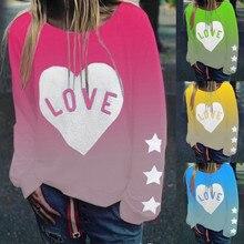 Женские свитшоты с длинным рукавом для отдыха, Повседневный пуловер с водяным знаком, свободный свитер на подкладке, теплый спортивный свитер 1205
