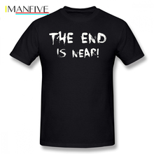 World Of Tanks T Shirt THE END IS NEAR T-Shirt Short Sleeves Printed Tee 100 Percent Cotton Awesome XXX Mens Summer Tshirt