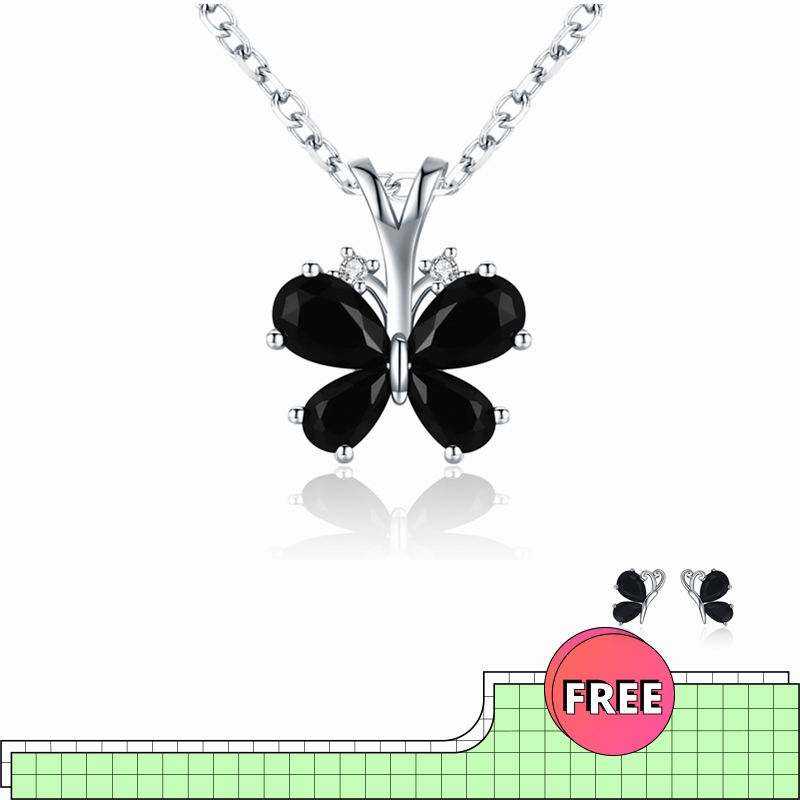 Fashion 925 Sterling Silver Jewelry Life Butterfly Women's Necklace Female Bijoux Necklaces Pendants Girl Gift KN016
