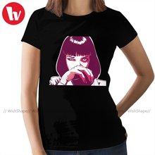 Миа Уоллес футболка t рубашка с круглым вырезом и простая женская