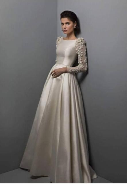 Liyuke индивидуальный пошив свадебного платья а силуэта в соответствии с запросом клиента таможенный сбор, пожалуйста, свяжитесь с нами перед покупкой
