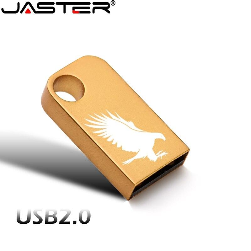 New Mini Metal High Speed USB Flash Drive Pen Drive 4GB 16GB 32GB 64GB 128GB USB Stick Waterproof Wedding Gifts Custom Logo