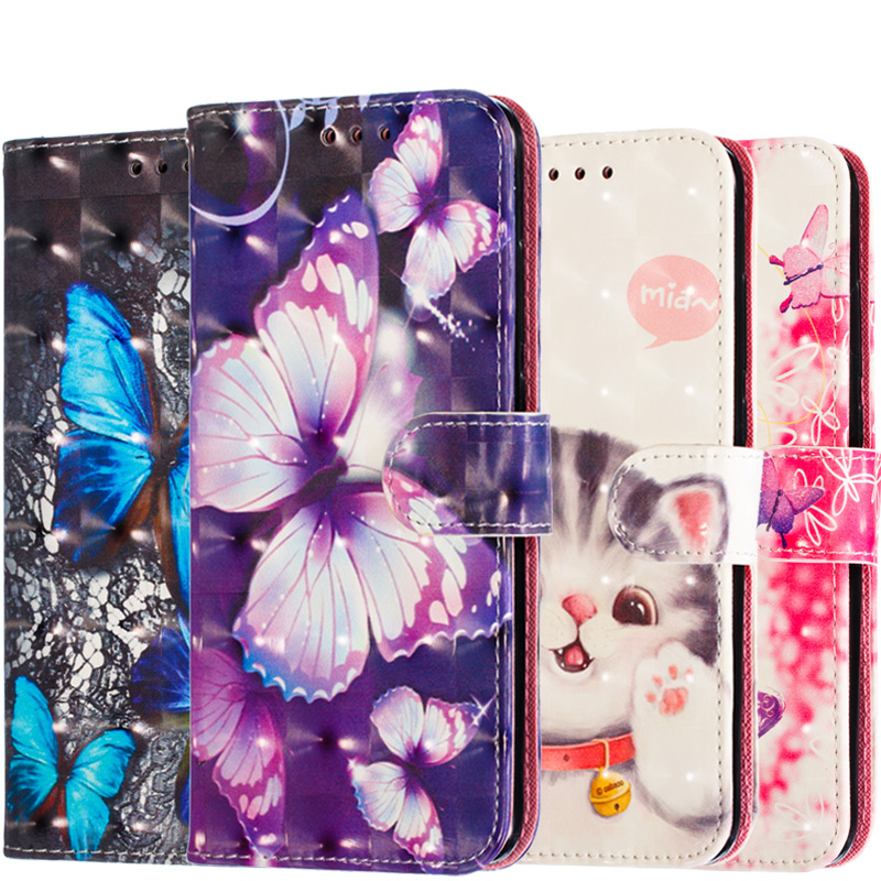 Fashion 3D Leather Wallet <font><b>Case</b></font> For Huawei <font><b>Honor</b></font> 8S 8A 8C 7C 7A 20 Pro <font><b>9</b></font> 10 P20 P30 <font><b>Lite</b></font> Y9 Y5 2018 Y6 Y7 2019 JAT-L29 <font><b>Flip</b></font> Cover image