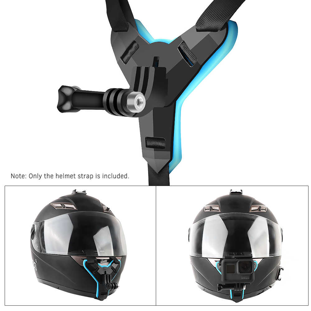 Kask fullface podbródek uchwyt do GoPro Hero 8 6 5 SJCAM kask motocyklowy podbródek stojak akcesoria do Go Pro Hero 8
