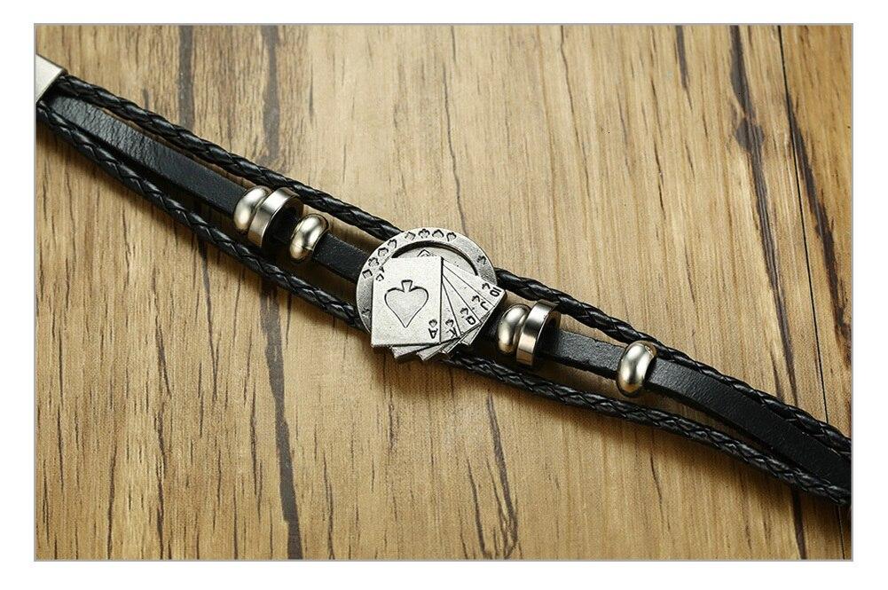 Hb22122220bde4e2d89d92a5edf0db198M - Vintage Leather Bracelet