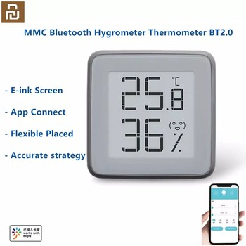 2020 New MMC E-Ink Screen Smart Bluetooth Thermometer Hygrometer BT2.0 Temperature Humidity Sensor Work With Smart App