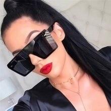 Lunettes de soleil carrées rétro pour femmes, nouvelle collection vintage de grande monture, avec effet miroir, lunette de style de marque