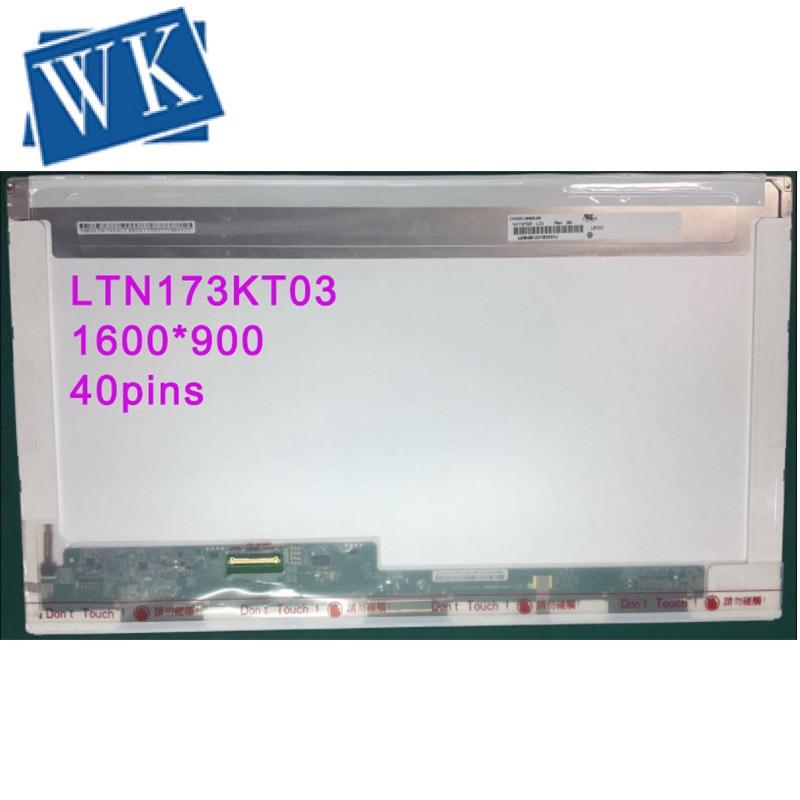 Free Shipping LTN173KT03 Only For Original Model LTN173KT03 Fit HP 17-e011sr Laptop LCD LED Screen 1600*900 LVDS 40pins