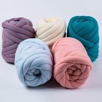 wills 1000g/Ball Super Thick Natural Wool Chunky Yarn DIY Bulky Arm Roving Knit Blanket Hand Knitting Spin Yarn DIY Blanket 60m