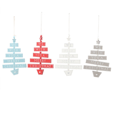 New Year Wooden Merry Christmas Letter Pendant Ornaments Party Wood Crafts for Home Wall Xmas Tree Hanging Decoration