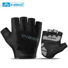 Перчатки inbike велосипедные на полпальца дышащие перчатки с