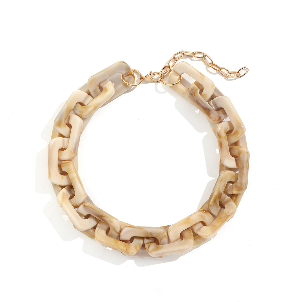 Punk Hip Hop Big Chunky Chain Necklace for Women Fashion Statement Acrylic Resin Choker Collar Femme Necklace Jewelry Bijoux