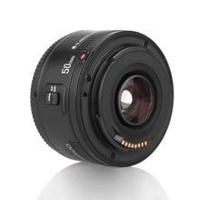 YONGNUO YN EF 50mm f/1.8 soczewki AF 1:1.8 standardowy Prime przysłony obiektywu automatyczne ustawianie ostrości dla Canon EOS 60D 70D 5D2 5D3 600d lustrzanki cyfrowe