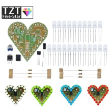 DIY Kit Heart Shape Breathing Lamp Kit DC 4V-6V Breathing LED Suite Red White Blue Green DIY Electronic Production for Learning