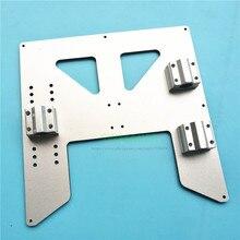 Silber Anet A8 A6 3D Drucker 4mm aluminium composite beheizten bett unterstützung Platte Y Wagen upgrade platte W drylin RJ4JP 01 08 block