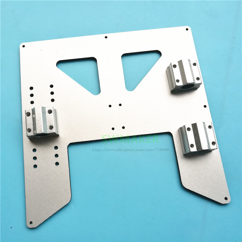 Silver Anet A8 A6 3D Printer 4mm Aluminum Composite Heated Bed Support Plate Y-Carriage Upgrade Plate W Drylin RJ4JP-01-08 Block