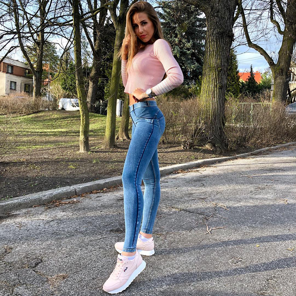 Melody Four Ways Stretchable Denim Jeggings 4 Colors Skinny Denim   Jeans   Woman