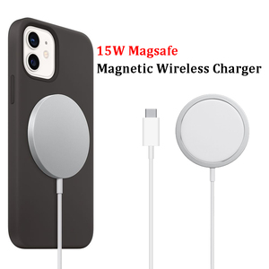 15W Magsafe Fast Magnetic Wireless Charger Stand QI Charging For iPhone 12 Pro 12 Mini 12 Pro Max 12 Fast 20W EU UK Plug Charger