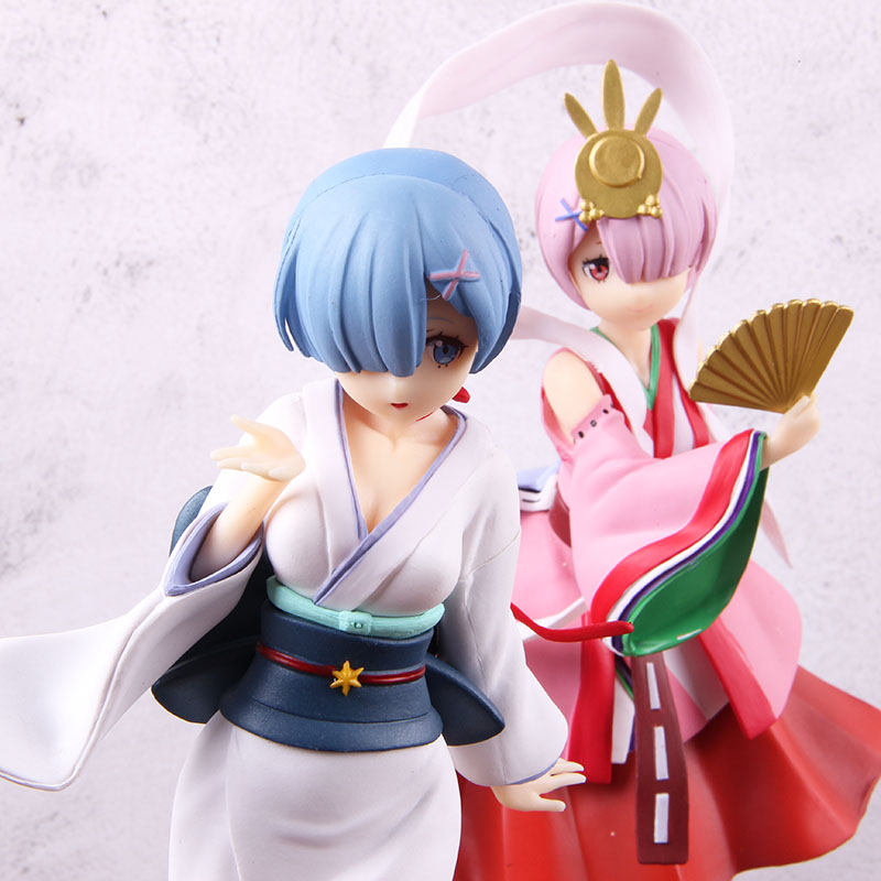 Re:life In A Different World From Zero Rem Ram Nightingale Yuki-onna Anime PVC Action Figure Collectible Model Toy