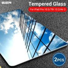 Verre trempé ESR pour iPad 7 génération 10.2 2019 Air 3 iPad Pro 10.5 protecteur d'écran 9H Film de verre pour iPad 7th Gen Air3 2pc