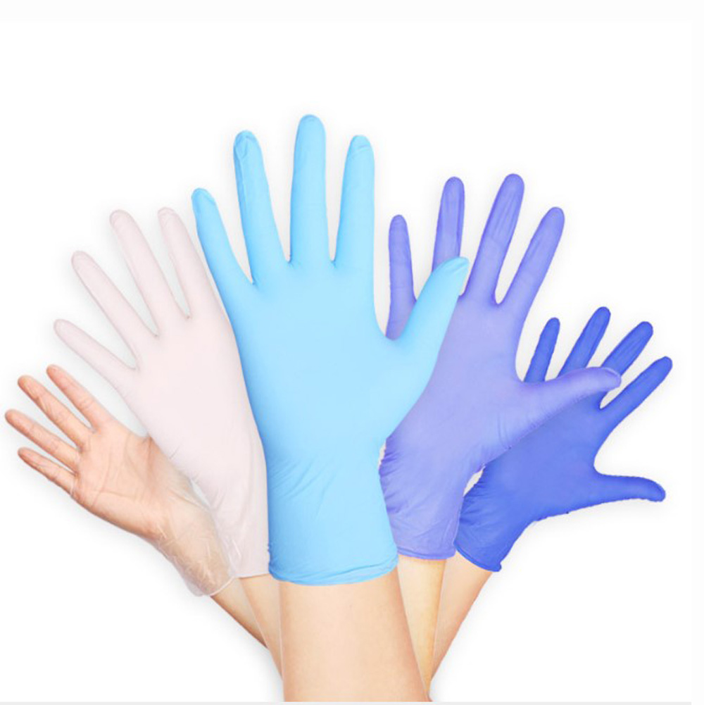 100PCS Disposable Nitrile Gloves Rubber Dishwashing/Kitchen/Medical /Work/Garden Gloves Universal For Left And Right Hand Size L