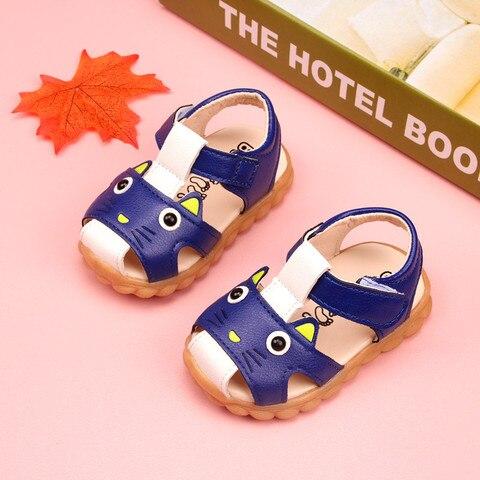 verao sandalias do bebe sapatos adoravel gato da crianca sandalias super macio do bebe meninas