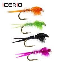 ICERIO 8 ADET #12 Stonefly Perileri Sinekler Alabalık Balıkçılık Fly Lures