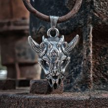 EYHIMD Gothic Tantrism Star of David Symbol Devil Sheep Skull Pendant Punk Stainless Steel Biker Jewelry