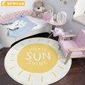 Круглый ковер RFWCAK для гостиной  детские игровые коврики  детский ползающий напольный коврик  одеяло  хлопковый игровой коврик  украшение дл...