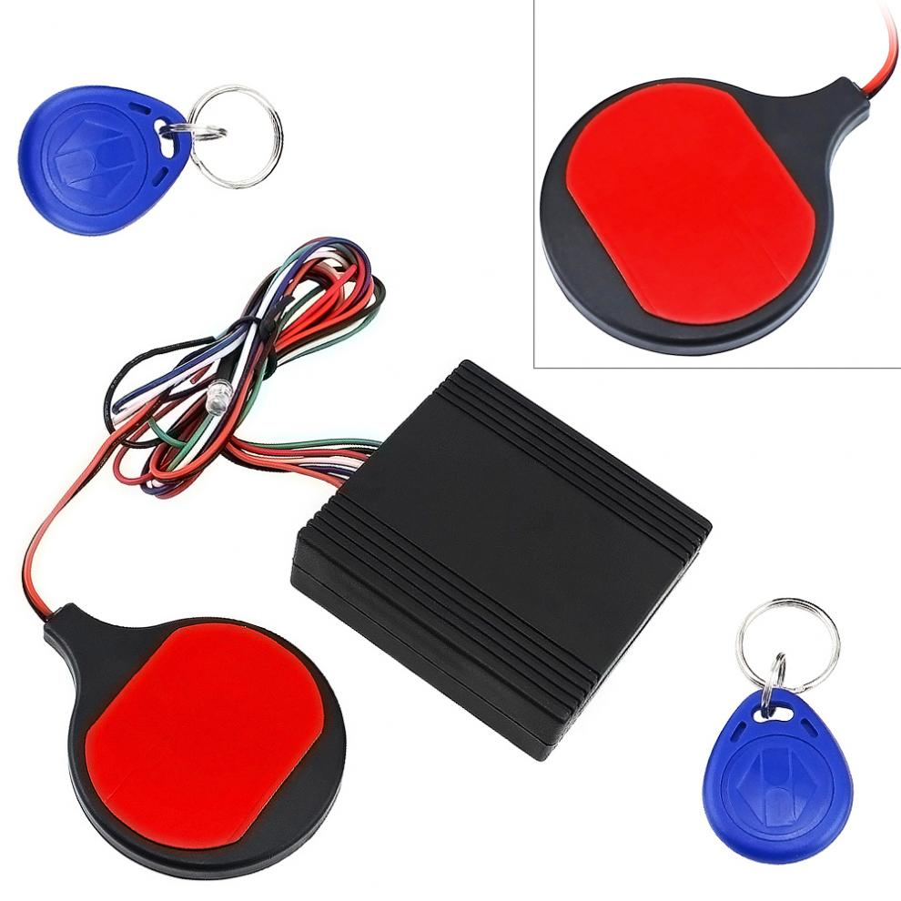 12 V Motorcycle ID Card Sensing Stealthy Lock Anti-theft Device Intelligent IC Swiping Card Sensing Lock For Motorcycle Scooter