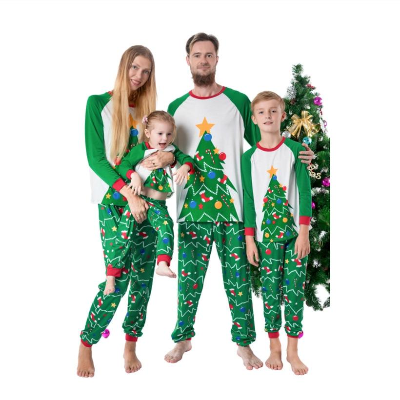 Ensembles de famille de Style de noël vêtements dessin animé Parents et enfant nouveau automne vêtements de maison pyjamas coton à manches longues tenue Parent-enfant