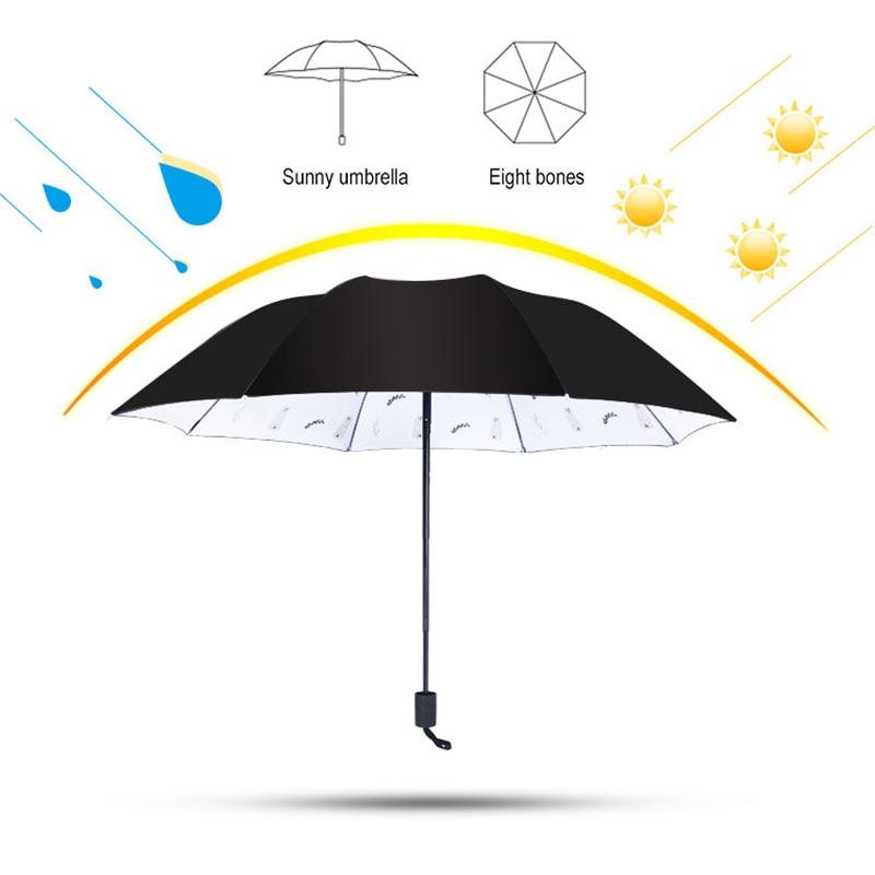 Ok Hand Sign Automatic Tri-fold Umbrella Folding Rain Umbrell Sunshade