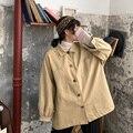 Женская рубашка, большие Топы, осенне-зимняя утепленная блузка, свободная однобортная верхняя одежда большого размера с карманами, верхняя ...