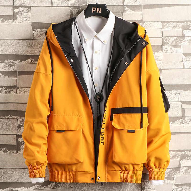 새로운 재킷 남자 패션 힙합 스포츠 용 재킷 코트 캐주얼 재킷 남자화물 폭격기 망 재킷 코트 Outwear Streetwear 도매