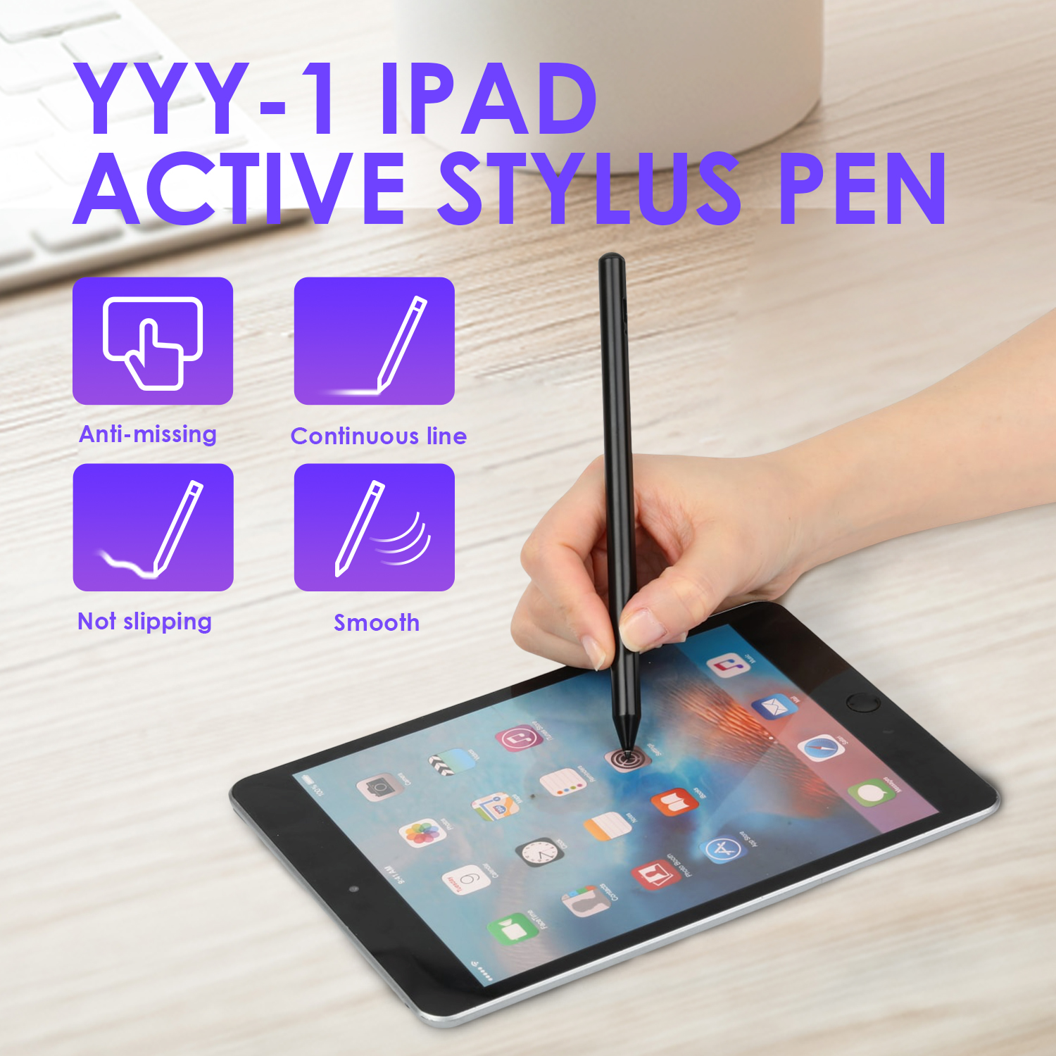 2020 Newest Active Stylus Touch Pen For Apple IPad Pro Air2 Mini 2018 No Bluetooth Smart Touch Pencil For IPad Capacitive Screen
