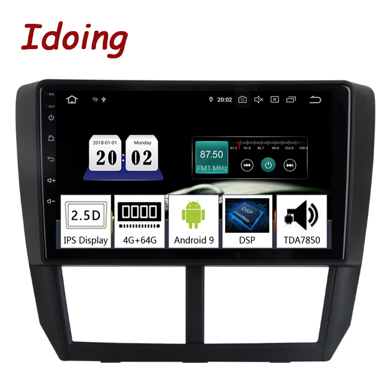 Idoing 9Car Android9.0 Radio Multimedia Player For Subaru Forester 2008-2012 PX5 4G+64G 8 Core GPS Navigation 2.5D IPS TDA 7850