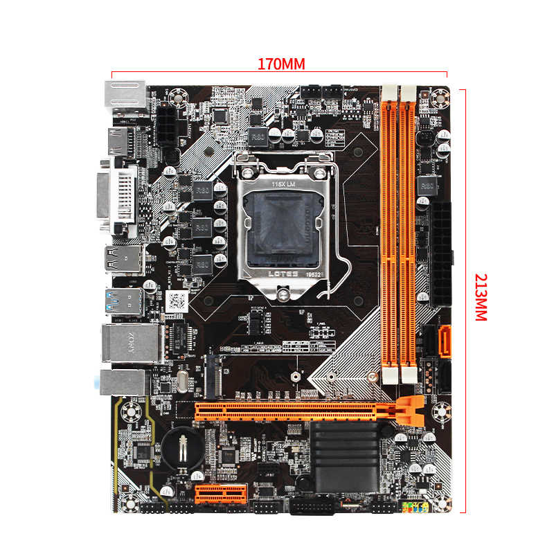 Makinist B75 masaüstü anakart LGA 1155 desteği Intel i3/i5/i7 CPU işlemci DDR3 RAM USB3.0 SATA3.0 PCI-E m.2 yuvası HN-B75
