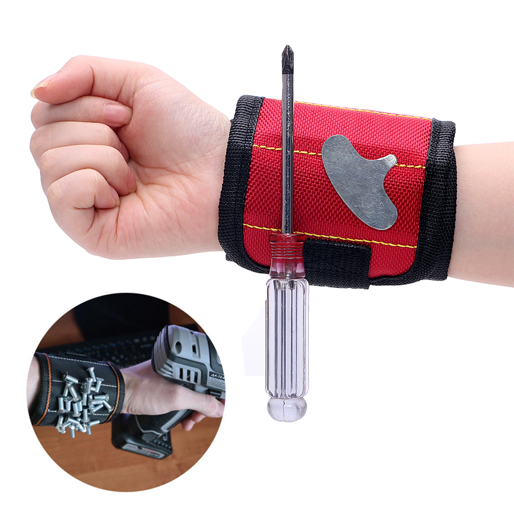 NICEYARD Magnetic Wrist Strap Magnetic WristBand Toolkit Tool Storage Bag Magnet Picker WristBand Tool Adsorption Screw Bag