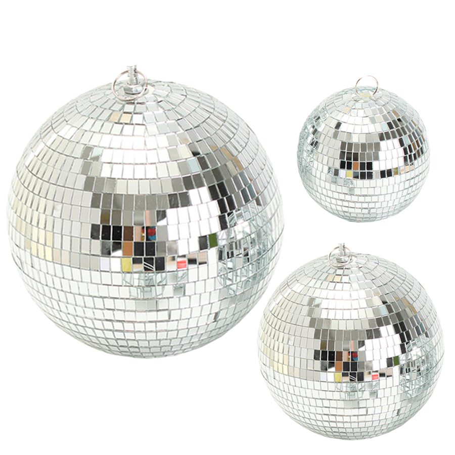Thrisdar Dia20CM 25CM 30CM Glass Mirror Disco Ball DJ KTV Bar Party Reflective Rotating Disco Mirror Ball Stage Light