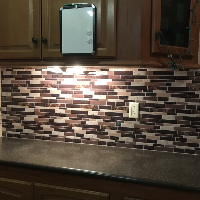 "6 Tiles Peel and Stick Wall Paper Vinyl Sticker Kitchen Backsplash Tiles, 12"" x 12"" Marble Design"