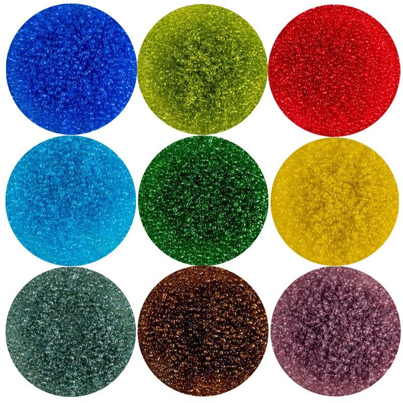 Стеклянные рисовые бусы 1000pcs 2 мм многоцветные бусины для рукоделия, хрустальные бусины из бисера для браслета ручной работы, колье, материа...