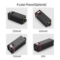 20W 450nm Blue Light Laser Head for Master Series DIY Carving Engraving Machine Engraver Accessory DIY Tools laser module head