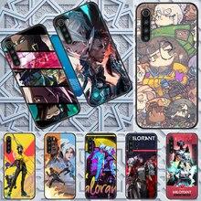 Caso de telefone jogo valorant para xiaomi redmi nota 7 7a 8t 9 9a 9s 10 k30 pro ultra preto moda capa silicone pintura