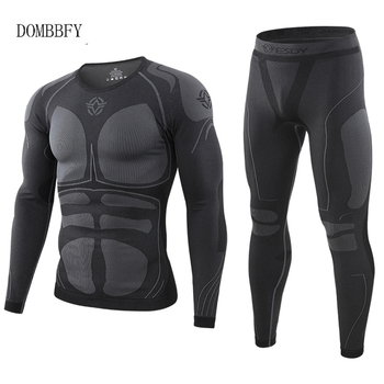 Winter Warm Tight Tactical Thermal Underwear Sets Men Outdoor Function Breathable Training Cycling Thermo Underwear Long Johns